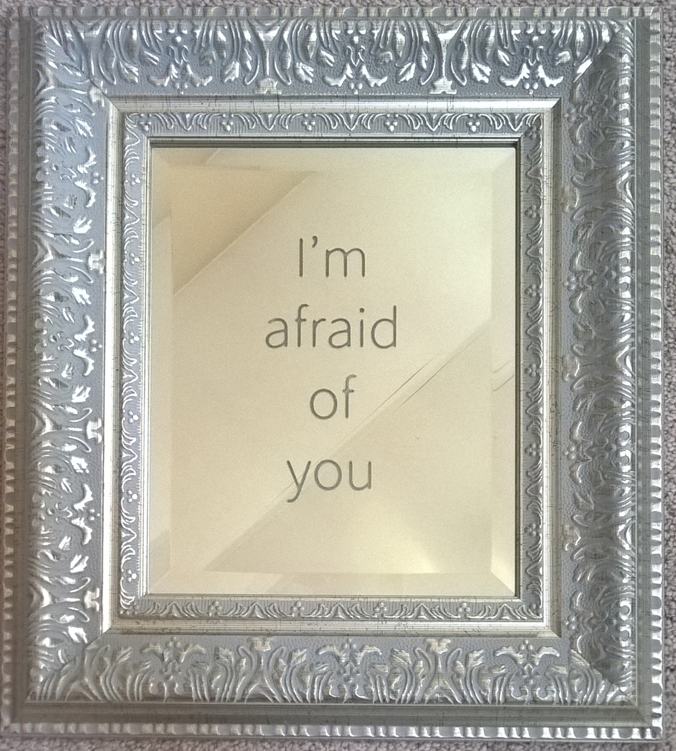 """Jeff Zimmer, """"I'm Afraid of You"""" (Silver Mirror version)"""