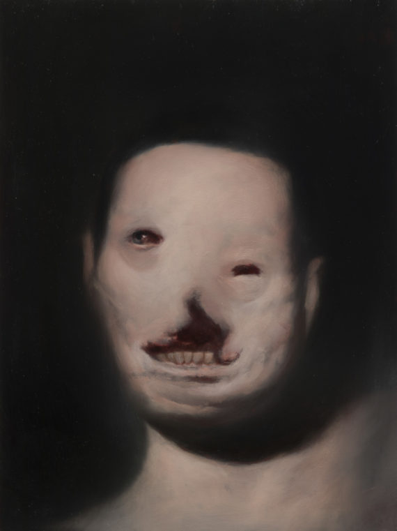 Ken Currie, Hiroshima Smile 1, 2015, Oil on gesso panel,  (c) Ken Currie, Courtesy of Flowers Gallery London and New York