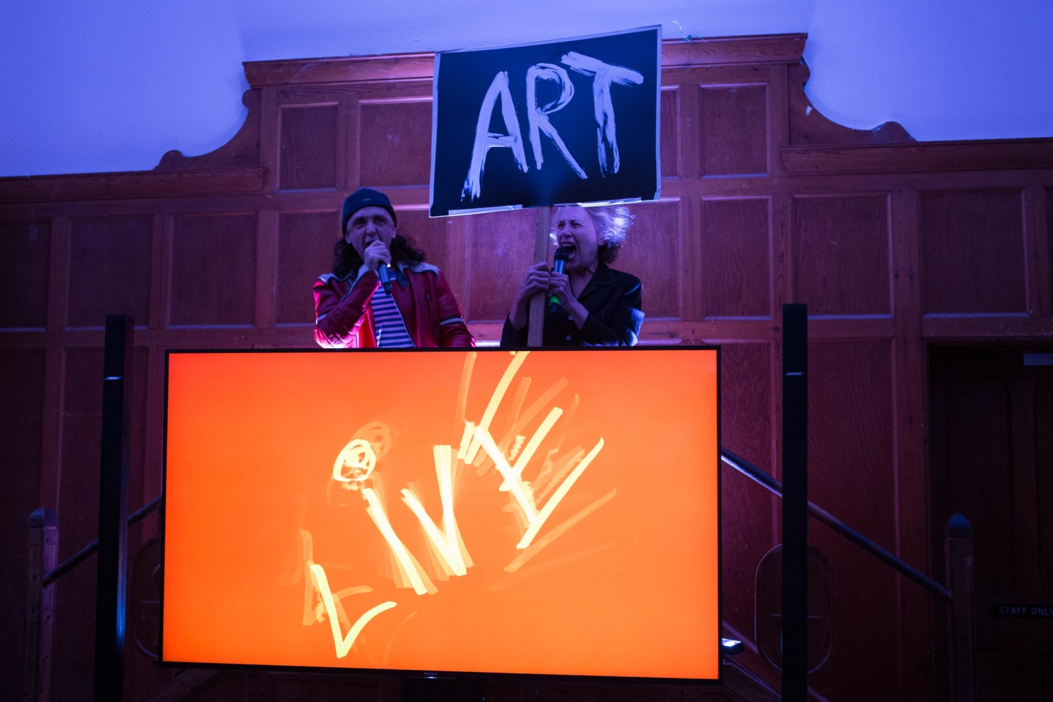 Opening event at Live Art Development Agency's new home, The Garrett Centre. Photo: George Hunt