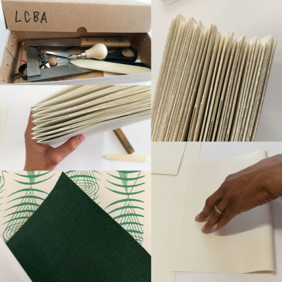 Making sections, essential toolkit, end paper and bookcloth