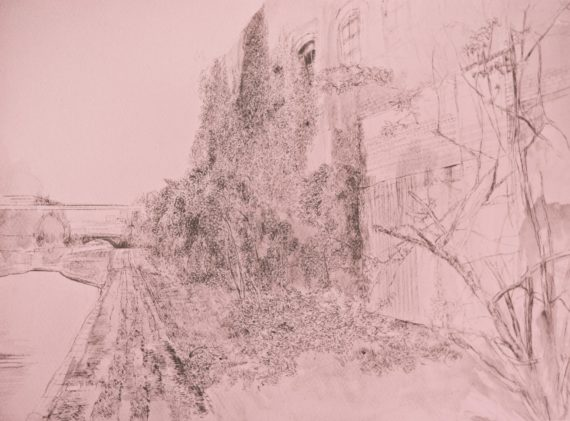 Laura Oldfield Ford, Chthonic Reverb, 2016, Edition of 50 Risograph print, 297 x 420mm. Courtesy; artist and Grand Union.