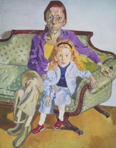 Alice Neel (American, 1900–1984), Linda Nochlin and Daisy, 1973, Oil on canvas. * Seth K. Sweetser Fund © The Estate of Alice Neel Courtesy David Zwirner, New York/London Photograph © Museum of Fine Arts, Boston