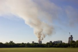 Grenfell Tower fire from Wormwood Scrubs
