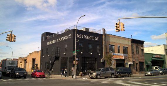 Exterior of the former Morbid Anatomy Musem in Brooklyn, NY