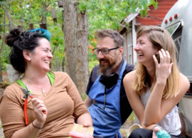 Photo of 2017 Creative Glass Center of America Fellows Rachel Rader, Jeff Zimmer & Anna Riley