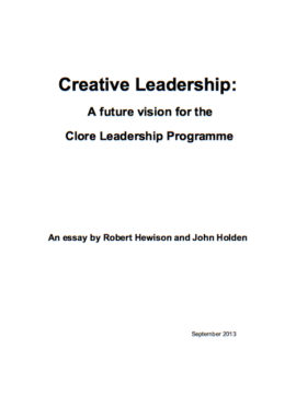 Creative Leadership: A future vision for the Clore Leadership Programme