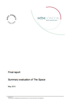 Summary evaluation of The Space pilot