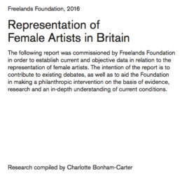 Representation of female artists in Britain