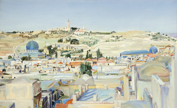 David Bomberg, Jerusalem City and Mount of Ascension, 1925, Ferens Art Gallery, Hull. Copyright: The Estate of David Bomberg