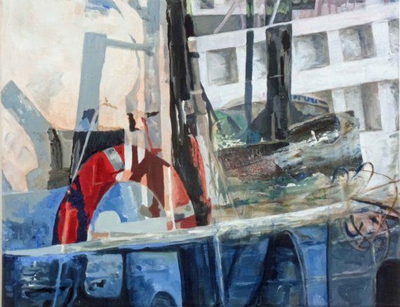 Jessie Davies, Humber Docks, Acyrlic on Canvas