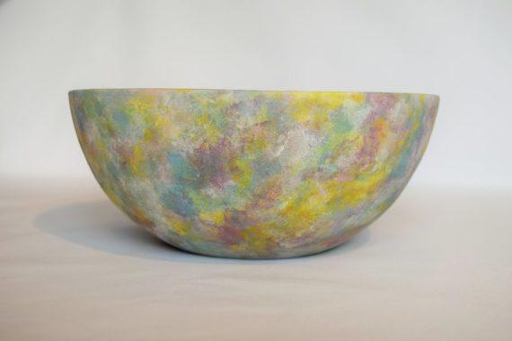 Isabel Dickinson, Natures Blend Sponged Underglaze Bowl, 2017