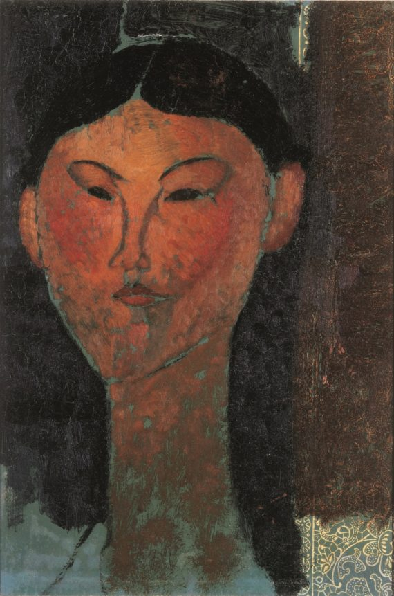 Modigliani, Beatrice Hastings, 1915. Oil on paper, 400 x 285 mm. Private Collection