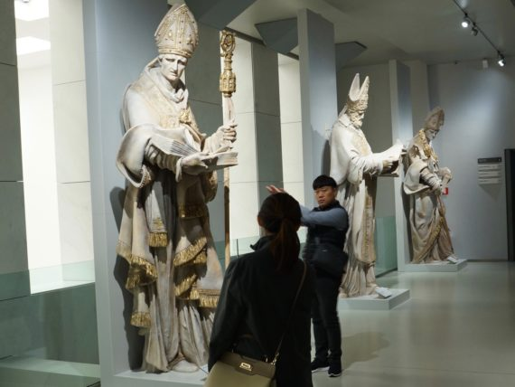 Oversize statues in the Museo del Duomo.