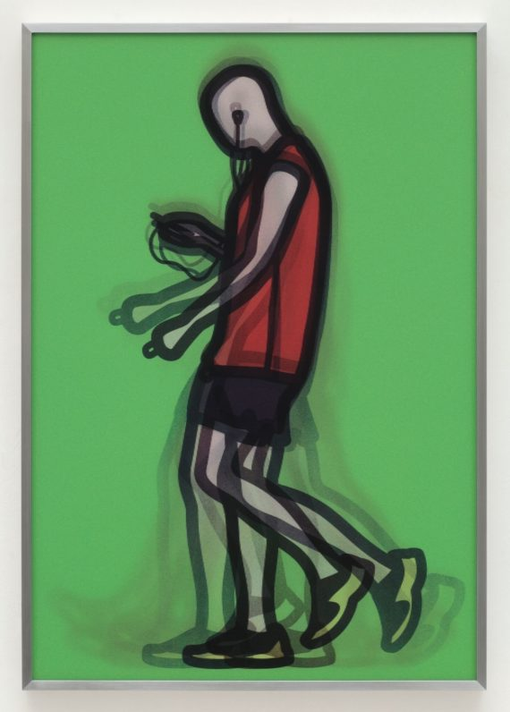 Julian Opie, Mechanic, 2014. Copyright: the artist