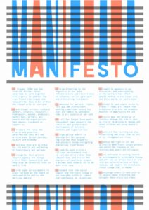 SCAN Manifesto, December 2017. Courtesy: SCAN (Scottish Contemporary Art Network)