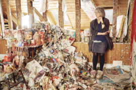 Rose Wylie in her studio. Photo: Joe McGorty; Courtesy: the artist