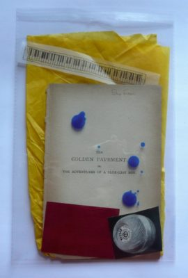 Golden Pavement: unfixed collage in bag