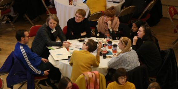 A group of delegates at Engage Conference 2017 (The Whole Picture: Rethinking diversity), Hull City Hall, November 2017. Photo: Amy Charles, Courtesy: Engage