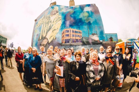 Image: Hessle road mural Caption: Terrace Enders, mural by Kev Largey and Lydia Caprani. Photo Credit: Tom Arron