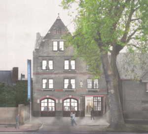 South London Gallery: View of proposed exterior of the former Peckham Road Fire Station by 6a architects.
