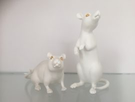 Wook Jae Maeng, White Mice, The Ceramic House