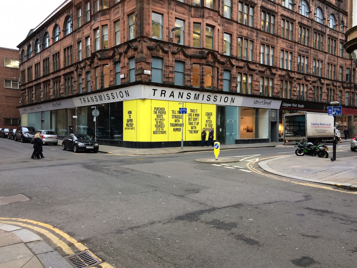Transmission Gallery, Glasgow. Photo: Chris Sharratt