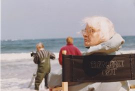 Margaret Tait on set of Blue Black Permanent, 1992. Courtesy of Orkney Library and Archive.