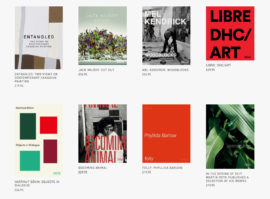 Screen grab from the Black Dog Publishing website showing covers of some of its art books