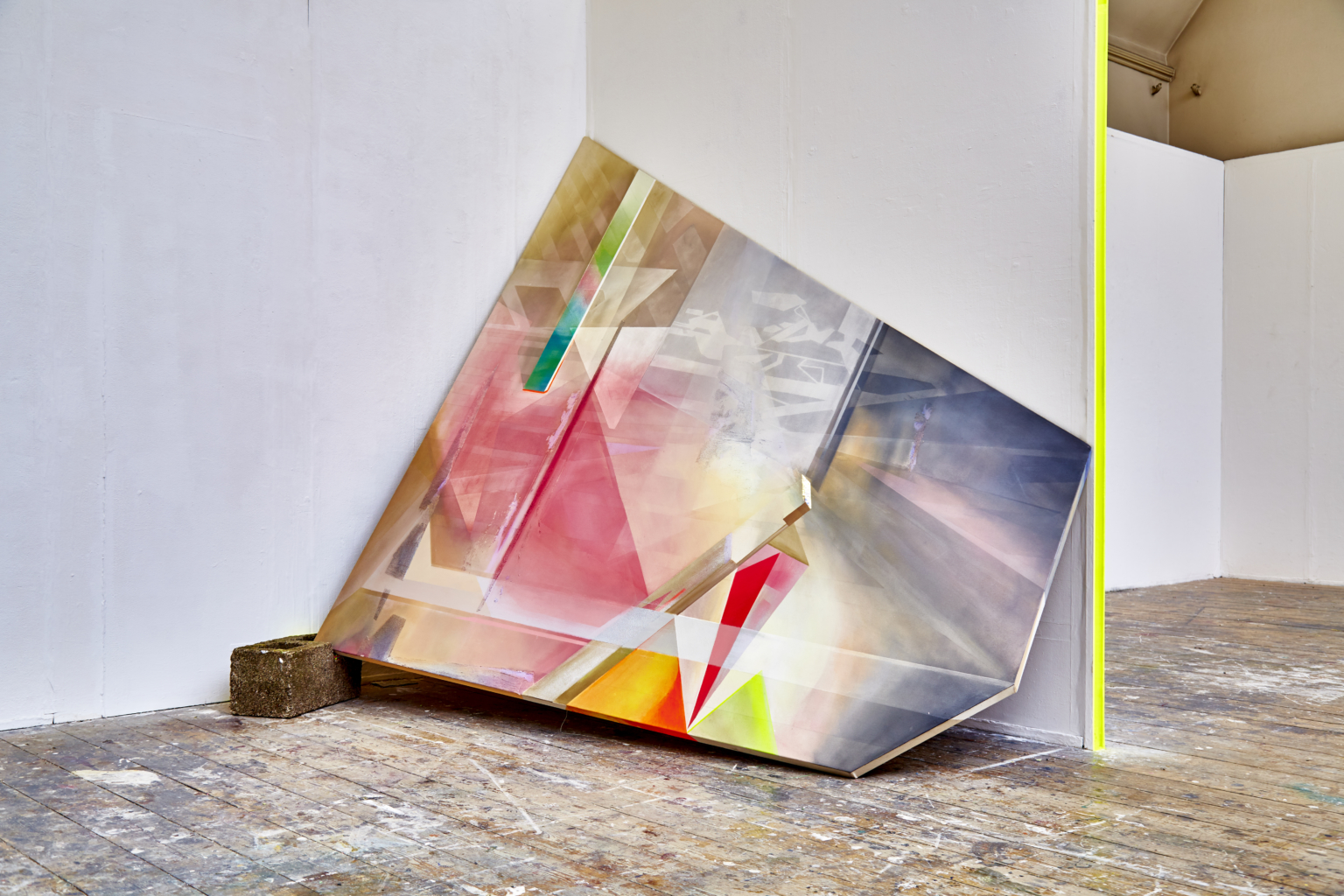 Olivia Peake, Emergence (Painting one), 2016. Photo: www.lukepickering.co.uk