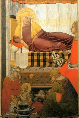 Pietro Lorenzetti Birth of The Vigin detail