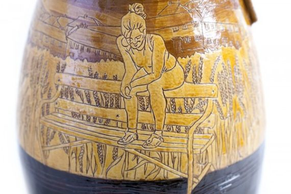 Emilie Tayor, ceramic, detail