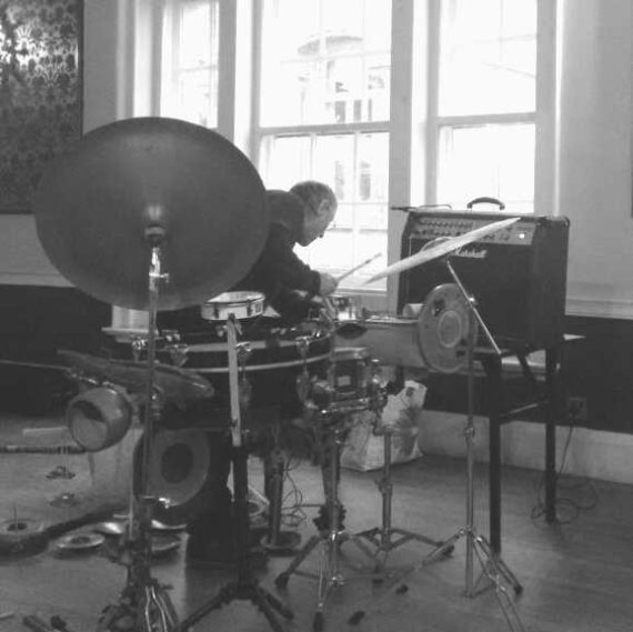 percussion equipment with man behind