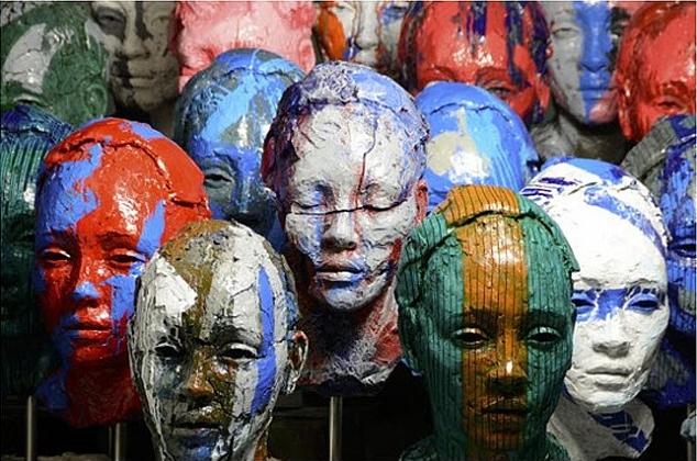 Lionel Smit, Accumulation of Disorder, sculpture, 2013