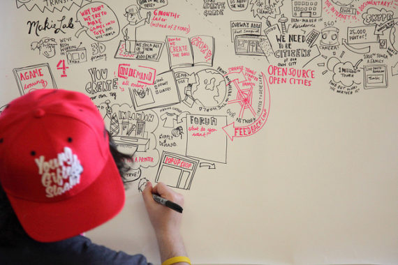 Smizz - Live drawing - illustrative mapping