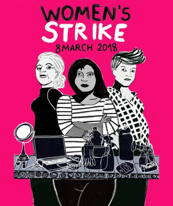 Poster for the Women's Strike, 8 March 2018