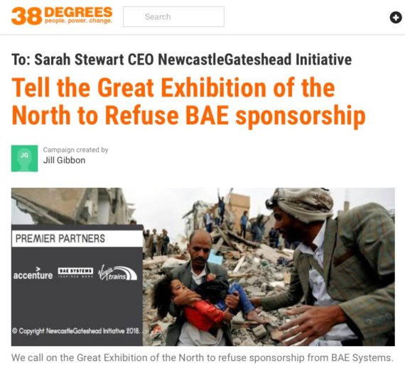 Petition calls on Great Exhibition of the North to refuse