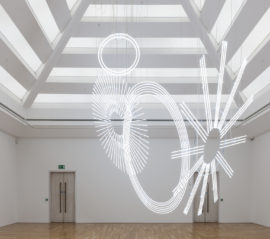 Cerith Wyn Evans, Radiant fold (…the Illuminating Gas), 2017/18.