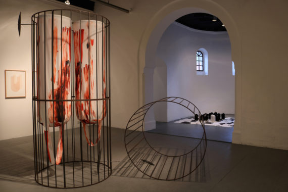 Claire Barclay, 'Deep Spoils', installation view, Mission Gallery, Swansea. Photo: Matthew Otten