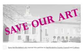 Screen grab from Save Hertfordshire's Public Art Collection petition
