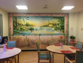 Michael O'Reilly, project for the Dining Room, Garnet Ward, Highgate Mental Health Centre. Photo: Tim A Shaw; Courtesy: Hospital Rooms