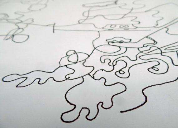 underlined workshop preparation - collaborative drawing exercise