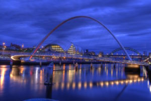 Millennium Bridge and Sage Gateshead. Photo: via https://pixabay.com, Creative Commons CCO license https://creativecommons.org/publicdomain/zero/1.0/deed.en