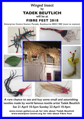 Tadek Beutlich textiles at Fibre Fest 2018 at Eastbourne Enterprise Centre