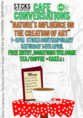 Conversation cafe nature as art
