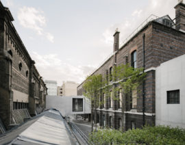 Royal Academy, London, 2018,  Weston Bridge and The Lovelace Courtyard. Photo: Simon Menges; Courtesy: Royal Academy