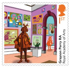 Grayson Perry, The Royal Academy stamp. Courtesy: The Royal Academy