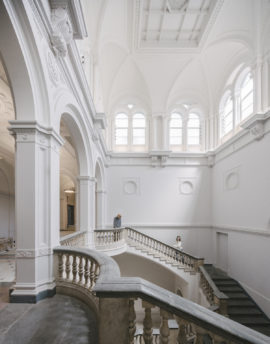 Royal Academy, London, The Wohl Entrance Hall. Photo: Simon Menges