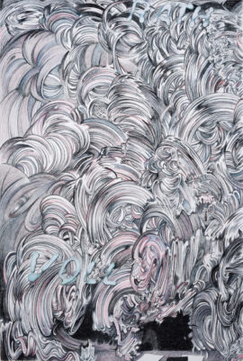 Paul McDevitt, Voll Rath, 224x149cm charcoal, pastel on paper, 2016. Photo: Florian Balze; Courtesy: Farbvision and Martin Asbæk Gallery, Copenhagen