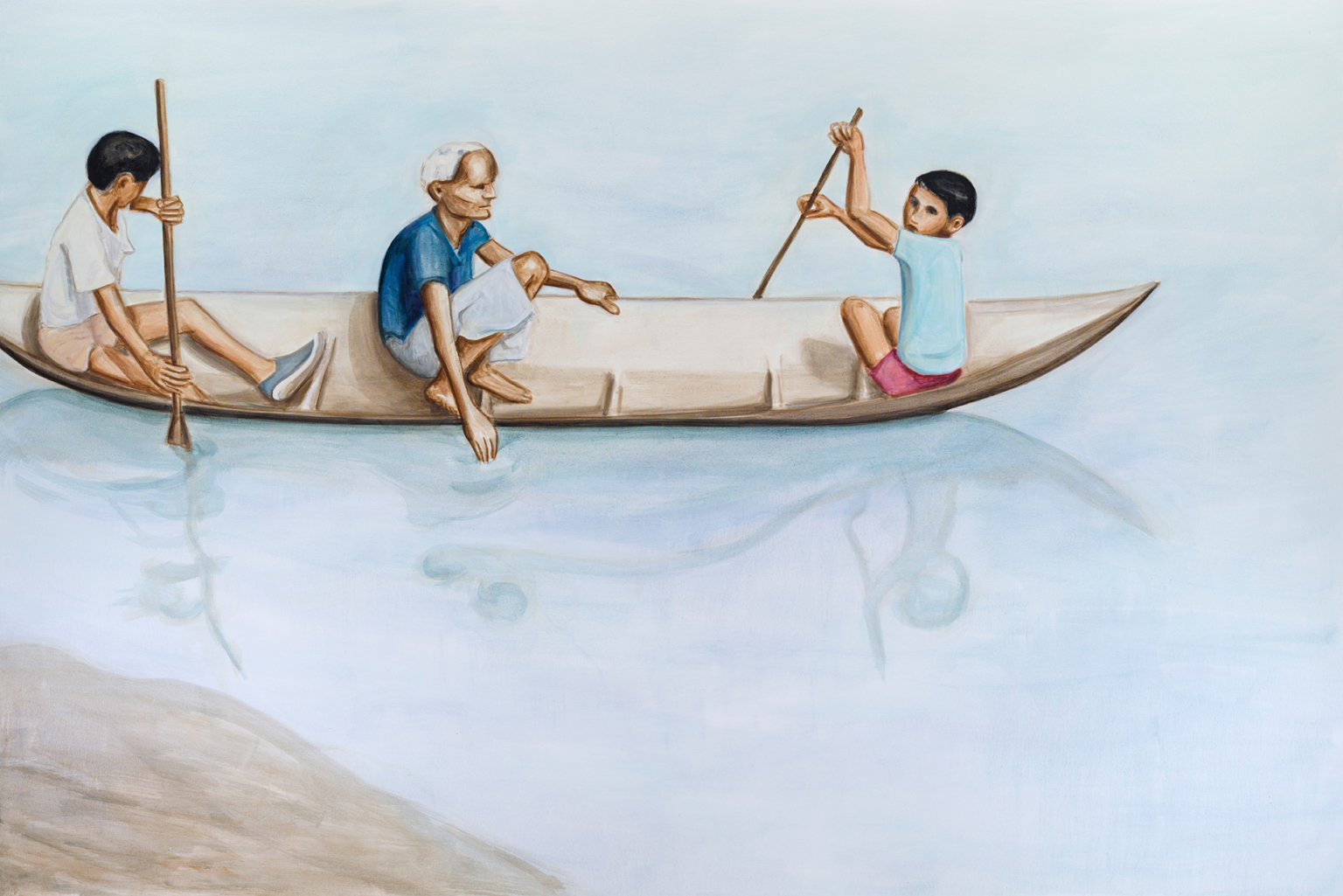 Boat, 2018, oil on canvas 200 x 300cm (photo: Peter Mallet)