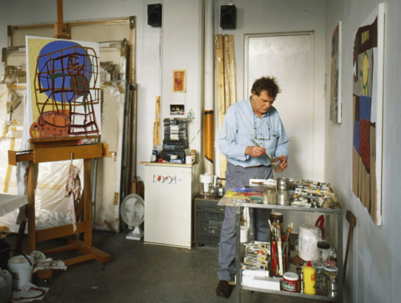 Clyde Hopkins in his studio at APT, 1988. Photo: Marilyn Hallam
